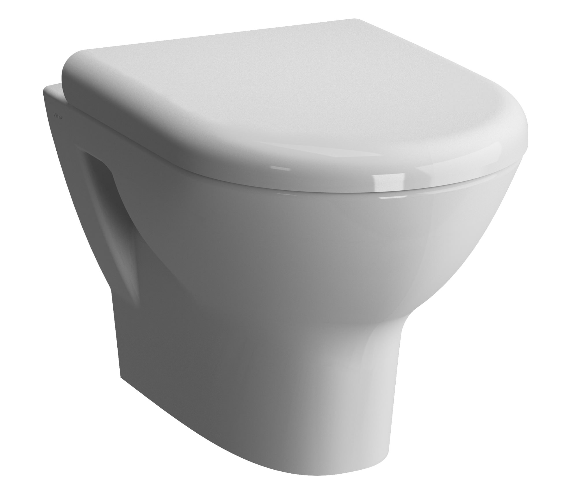 vitra zentrum 50cm wall hung wc pan and toilet seat