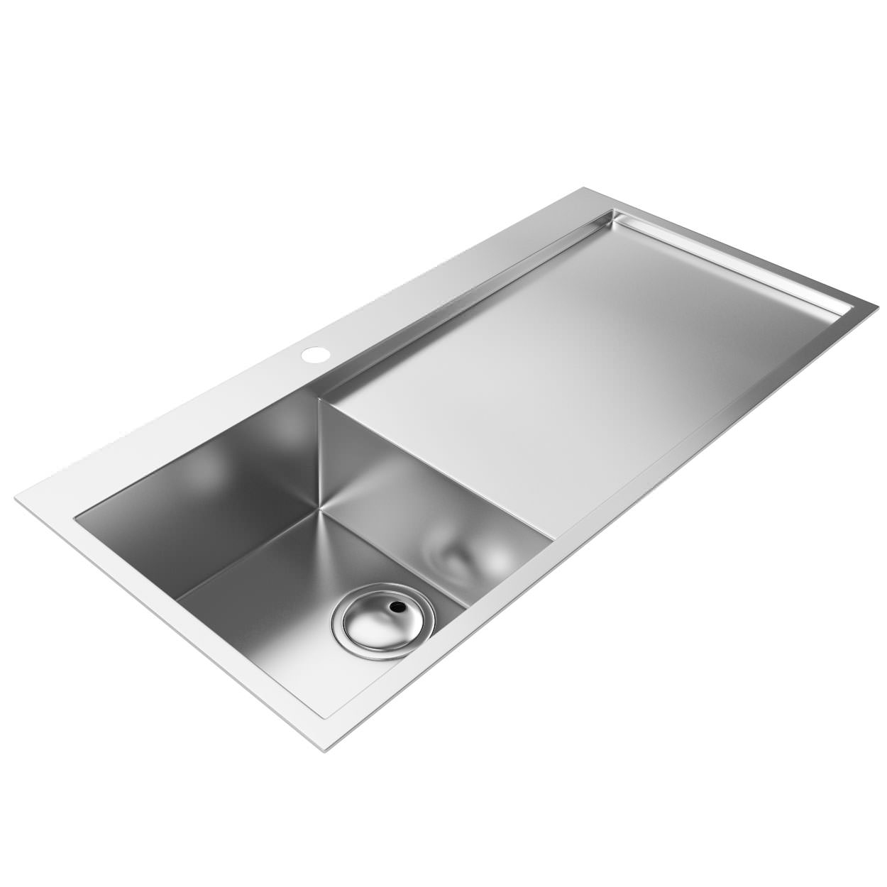Abode Metrik Stainless Steel Kitchen Sink 1 0 Bowl Right