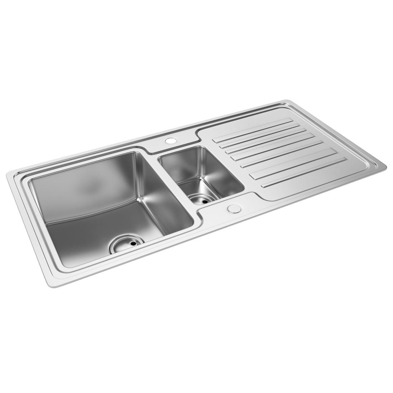 1.5 Bowl Kitchen Sink Abode apex 15 bowl reversible stainless steel kitchen sink abode apex 15 bowl reversible stainless steel kitchen sink and drainer workwithnaturefo