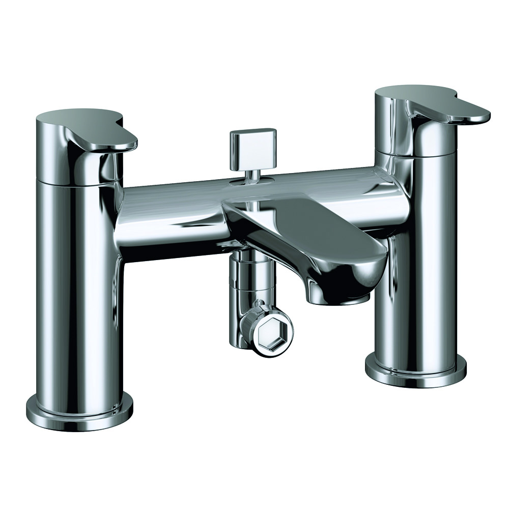 Pura Echo Deck Mounted Bath Shower Mixer Tap With Kit
