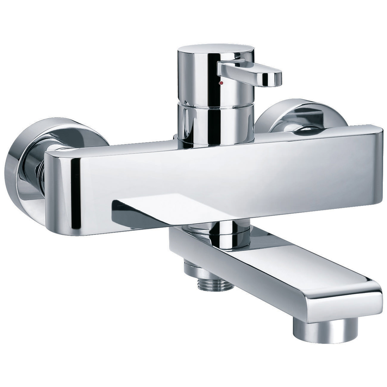 Flova essence wall mounted manual bath shower mixer tap for Bathroom taps
