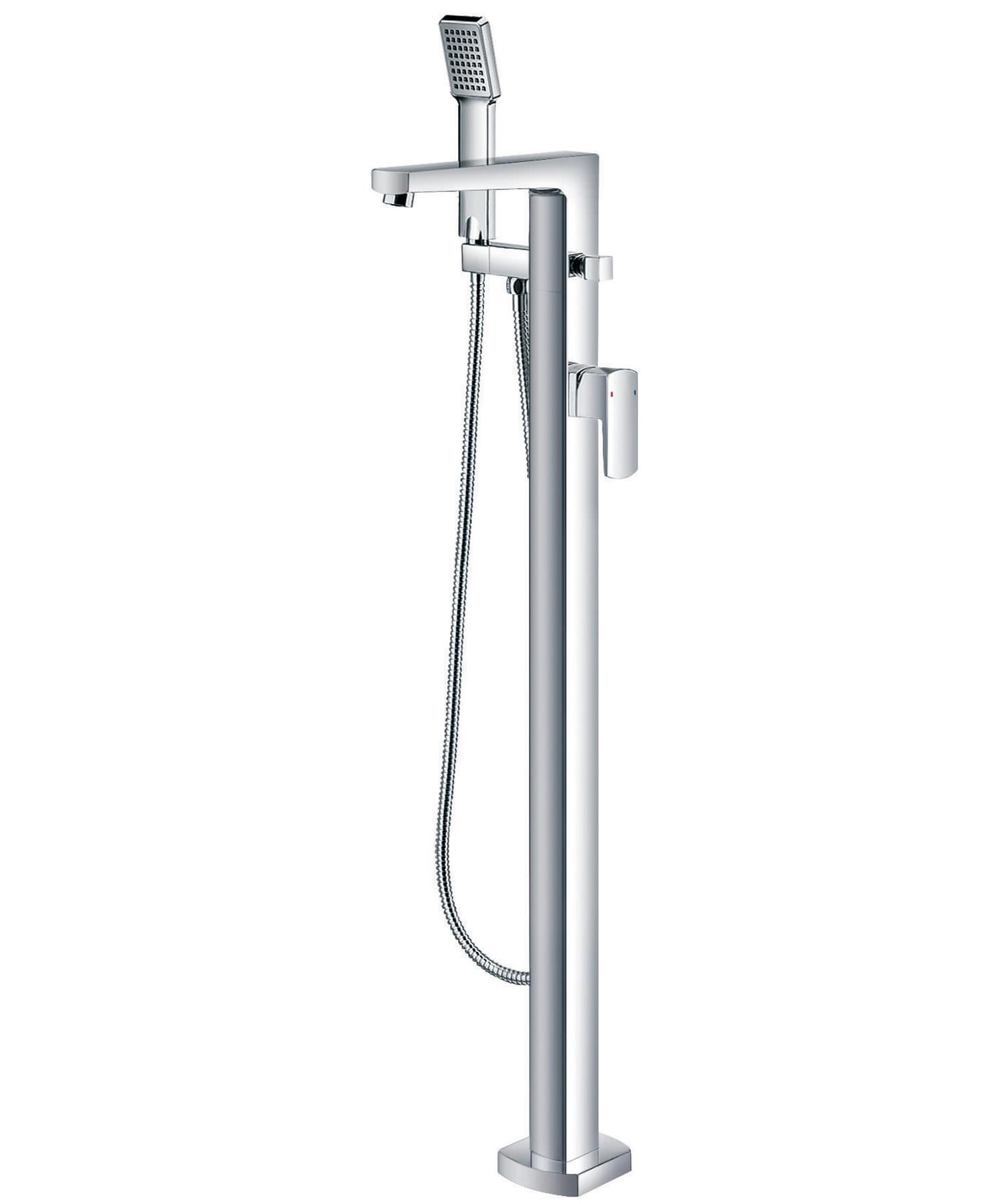 flova dekka floor mounted bath shower mixer tap with handset. Black Bedroom Furniture Sets. Home Design Ideas