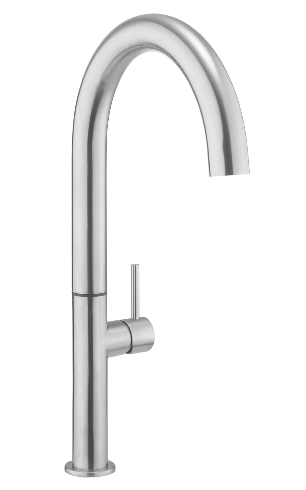 Crosswater cucina tube round tall stainless steel kitchen - Round stainless steel kitchen sink ...