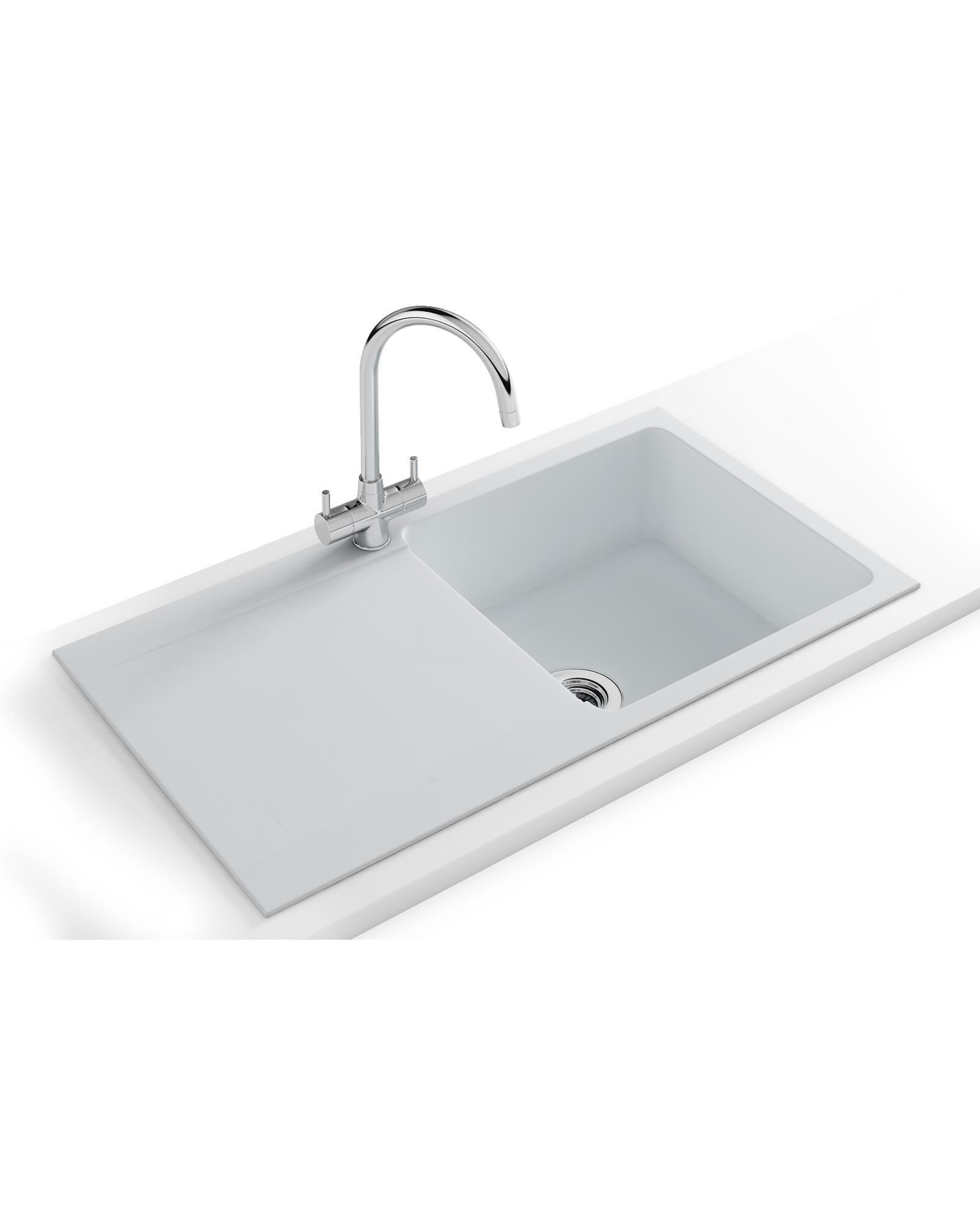 High Quality Franke Orion OID 611 94 Propack   Tectonite Polar White Sink And Tap