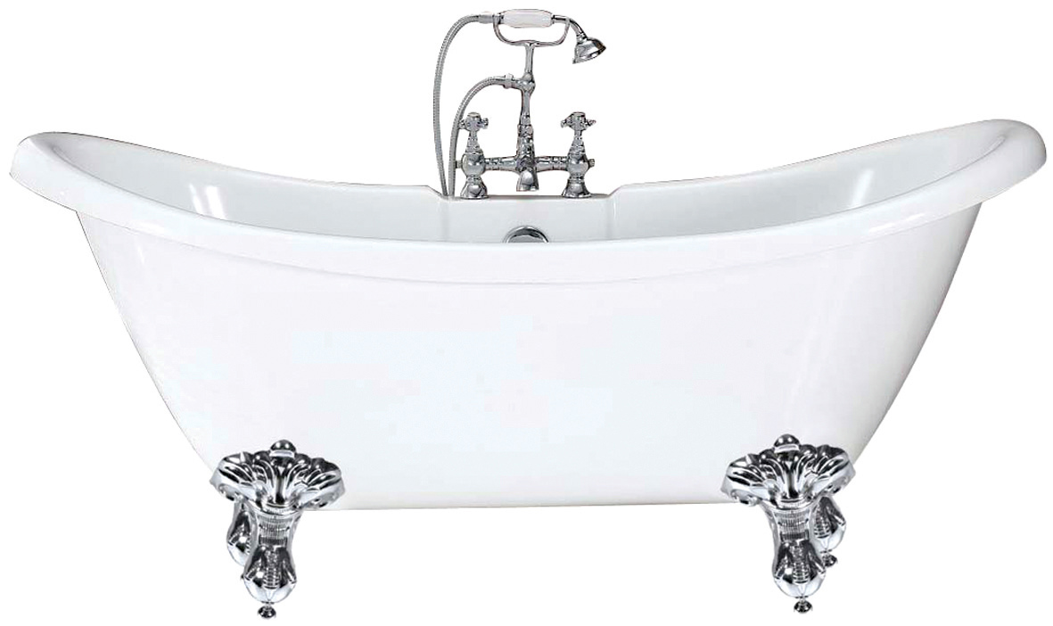 Phoenix Traditional Double Ended Slipper Bath 1750x720mm With Feet