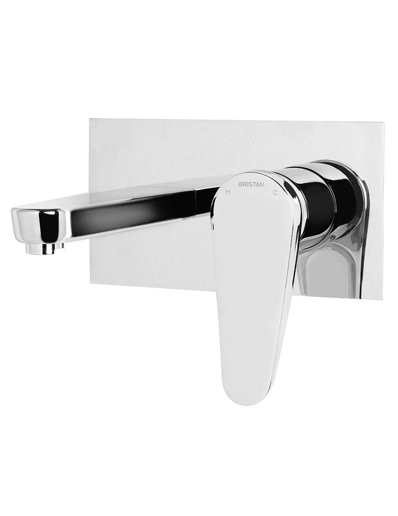 Bristan Claret Wall Mounted Basin Mixer Tap Chrome - CLR WMBAS C