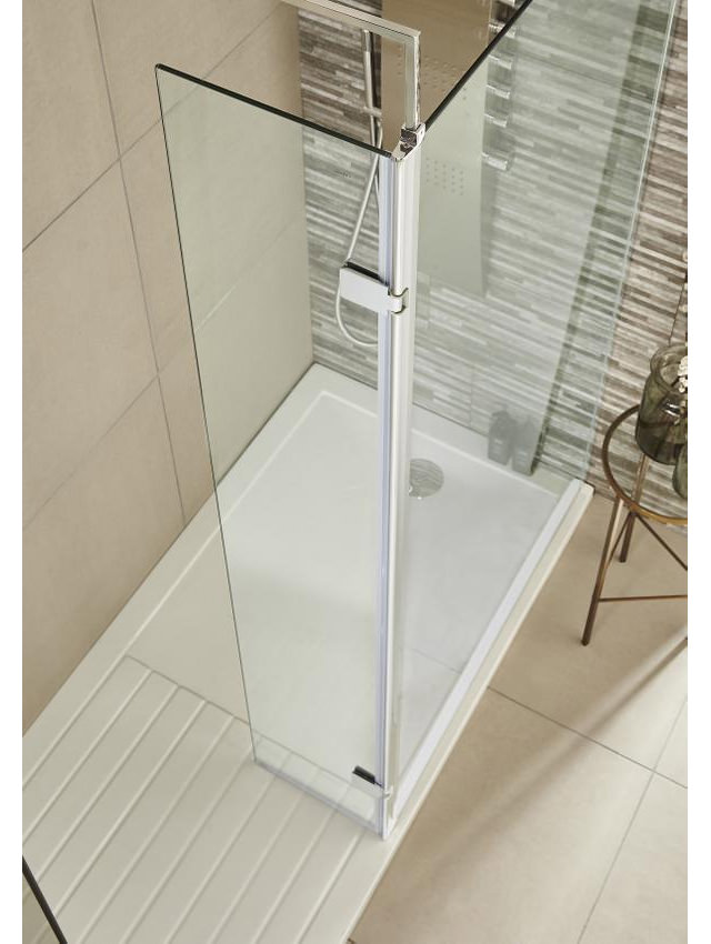 Wet Room Single Screen With Return Mm X Mm Glass