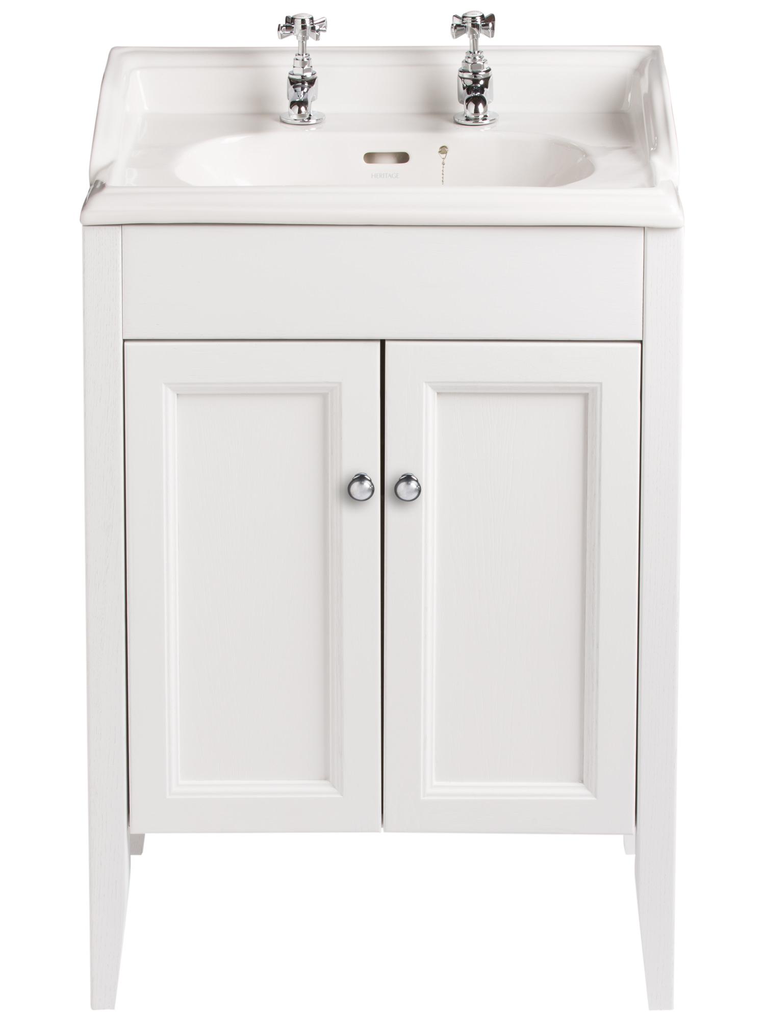 heritage caversham white ash vanity unit for dorchester square basin