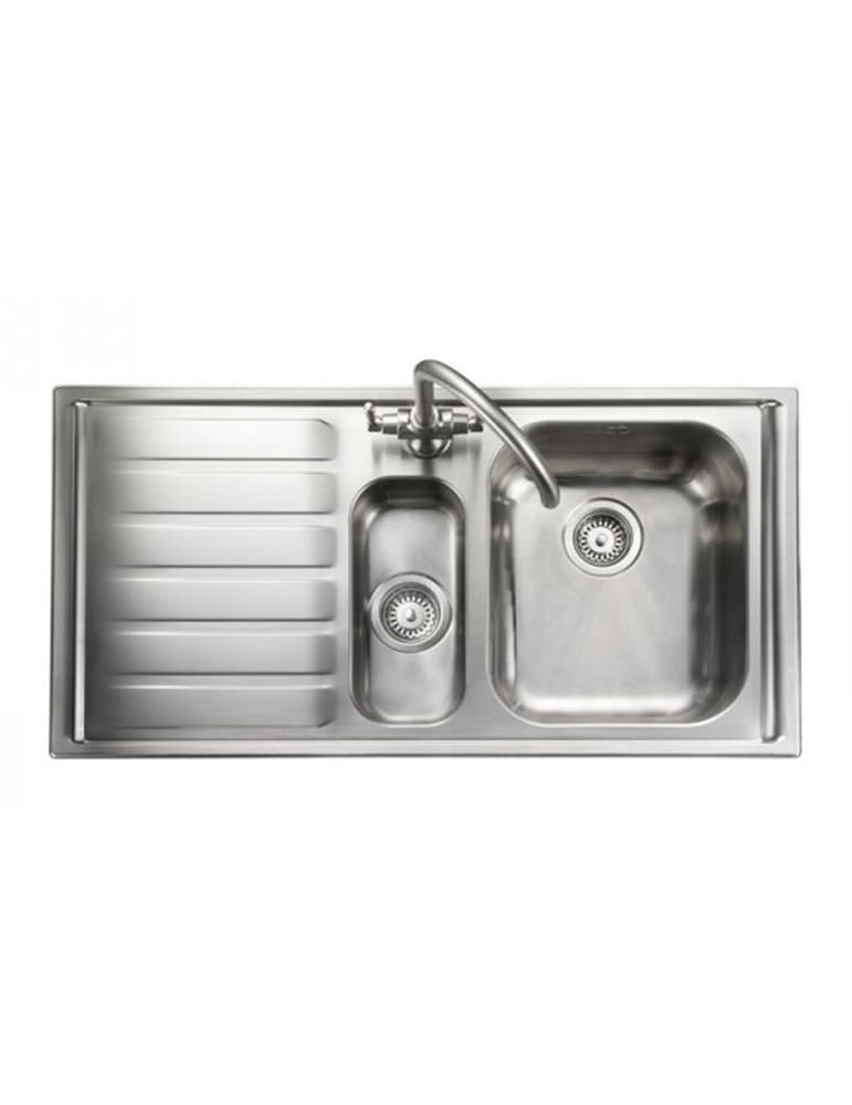 rangemaster kitchen sinks rangemaster manhattan 1 5 bowl stainless steel kitchen sink lh 1721