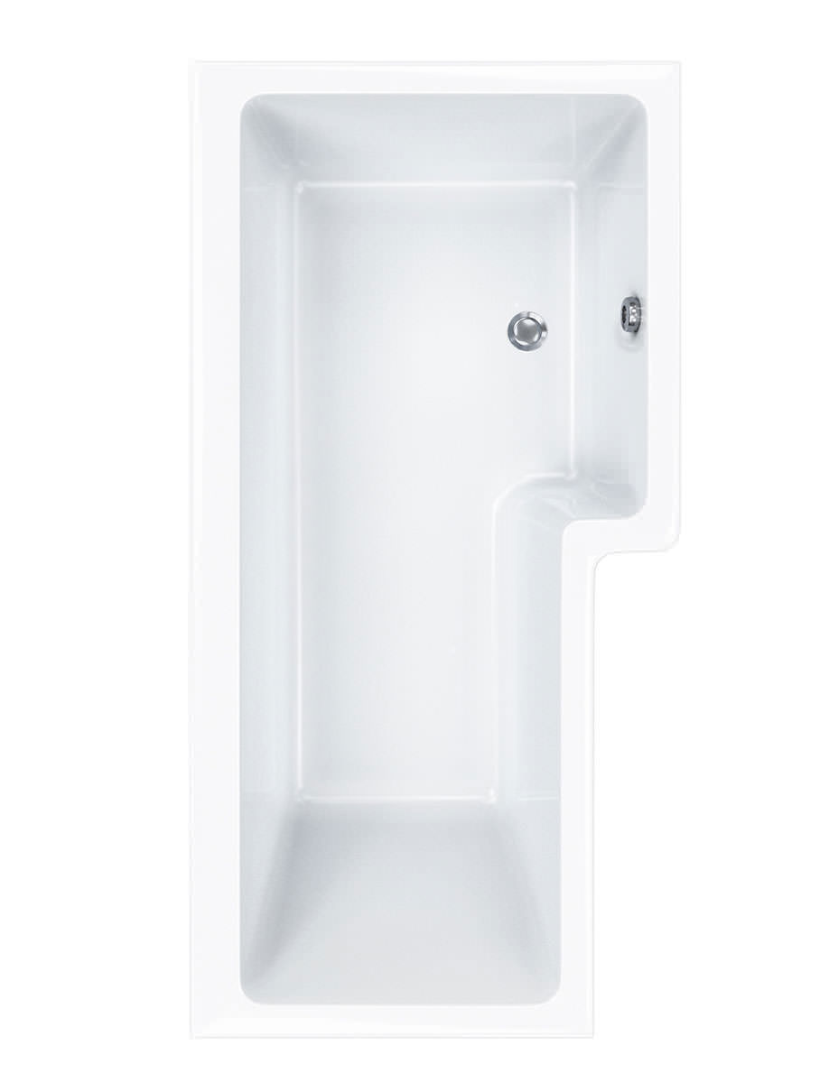 Carron Quantum 5mm Acrylic Square Shower Bath 1600 x 850mm LH