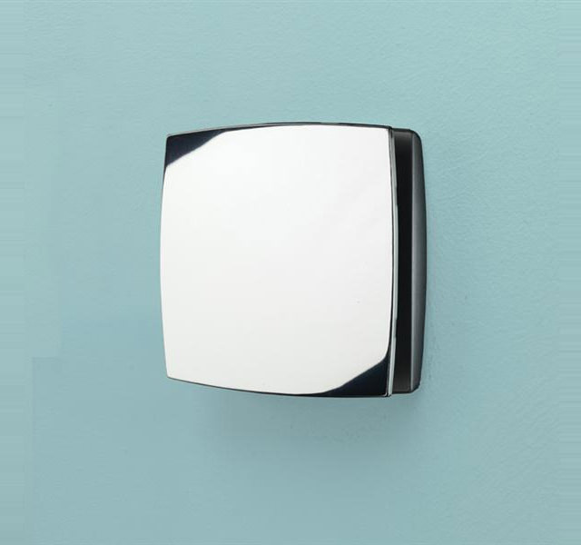 Hib Breeze White Wall Mounted Discreet Fan With Timer