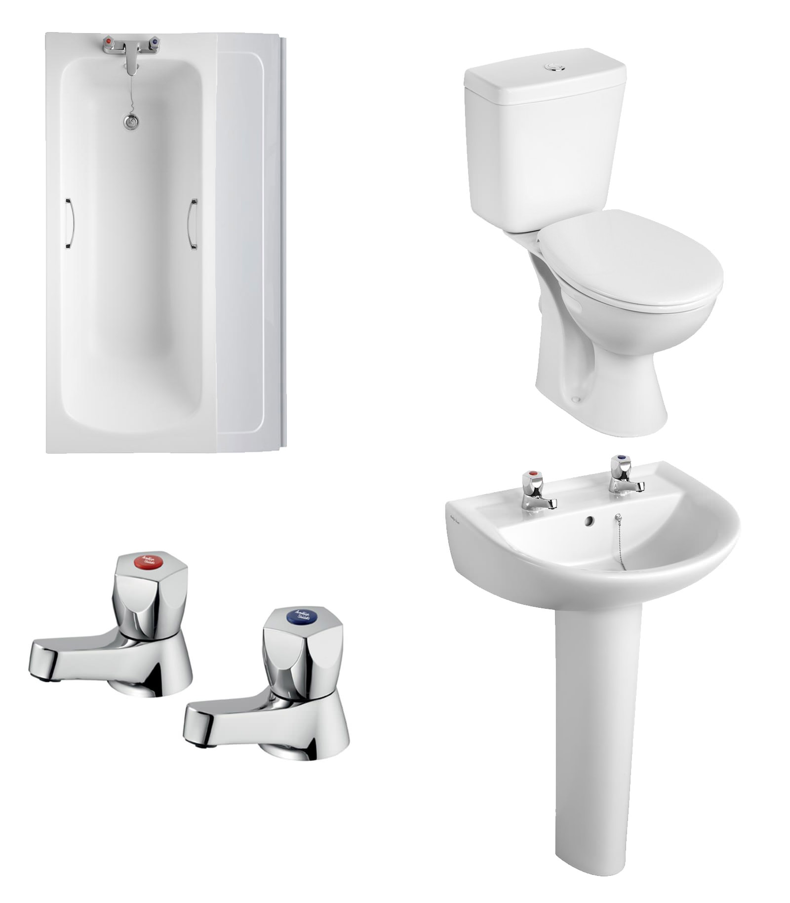 Armitage shanks bathroom sinks - Armitage Shanks Sandringham 21 Bathroom To Go Pack With 2th Basin