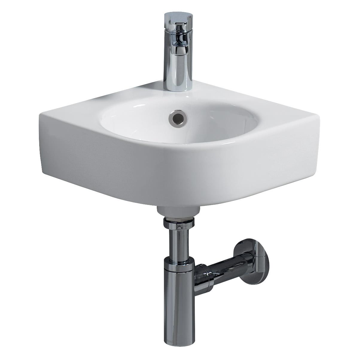 Twyford E200 1 Tap Hole 320 X 320mm Corner Handrinse Basin
