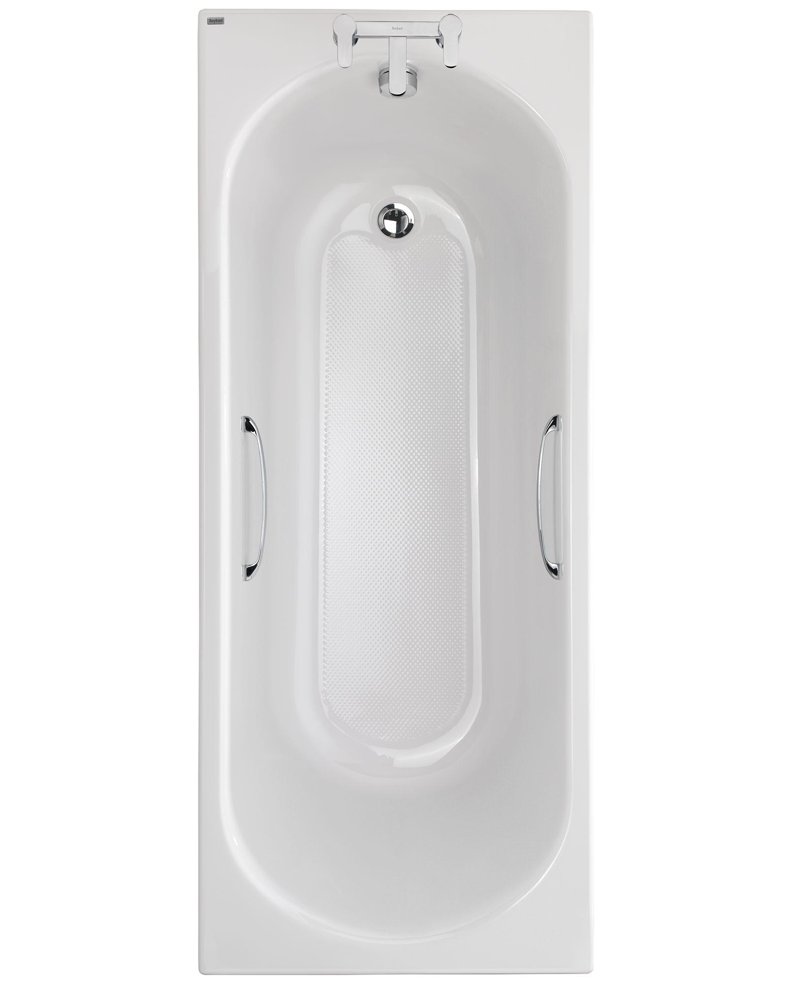 Twyford Opal 1700 x 700mm 2 TH 179 Litres Acrylic Bath With Grips