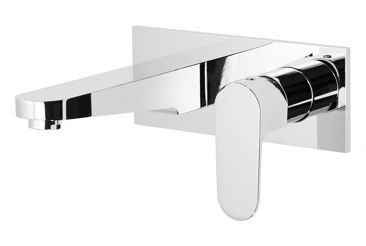 Roper rhodes image 200mm wall mounted basin mixer tap for 200mm wide kitchen wall unit