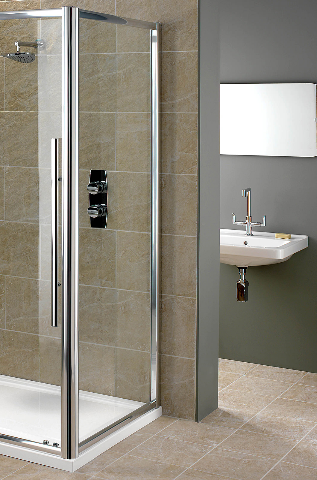 showerlux linea touch 6mm glass side panel 800mm