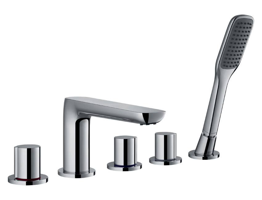 Flova Allore Deck Mounted Bath Shower Mixer Tap With