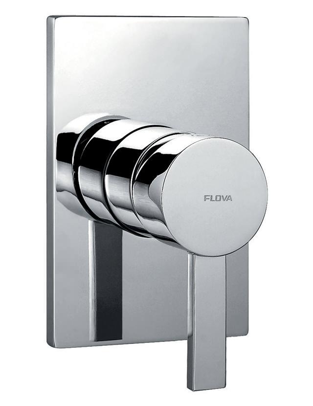 Flova Str8 Manual Concealed Shower Valve With Large Backplate