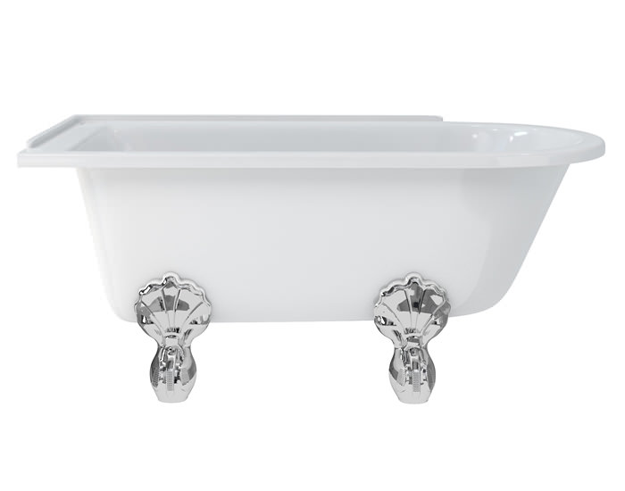 Burlington Hampton 1500x750mm Roll Top Shower Bath Left Hand