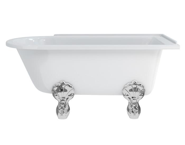 burlington hampton 1500x750mm roll top showering bath hampton roll top 1700 shower bath amp trad legs buy online