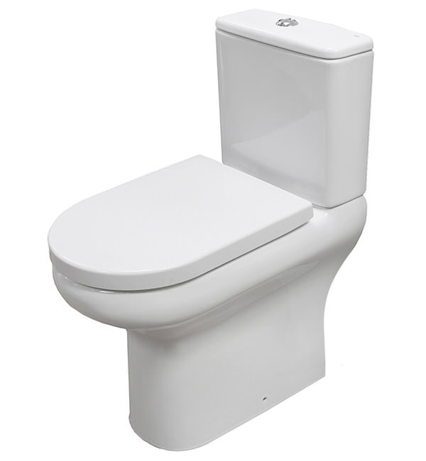 Compact Deluxe Rimless Close Coupled Full Access Wc Pack 625Mm
