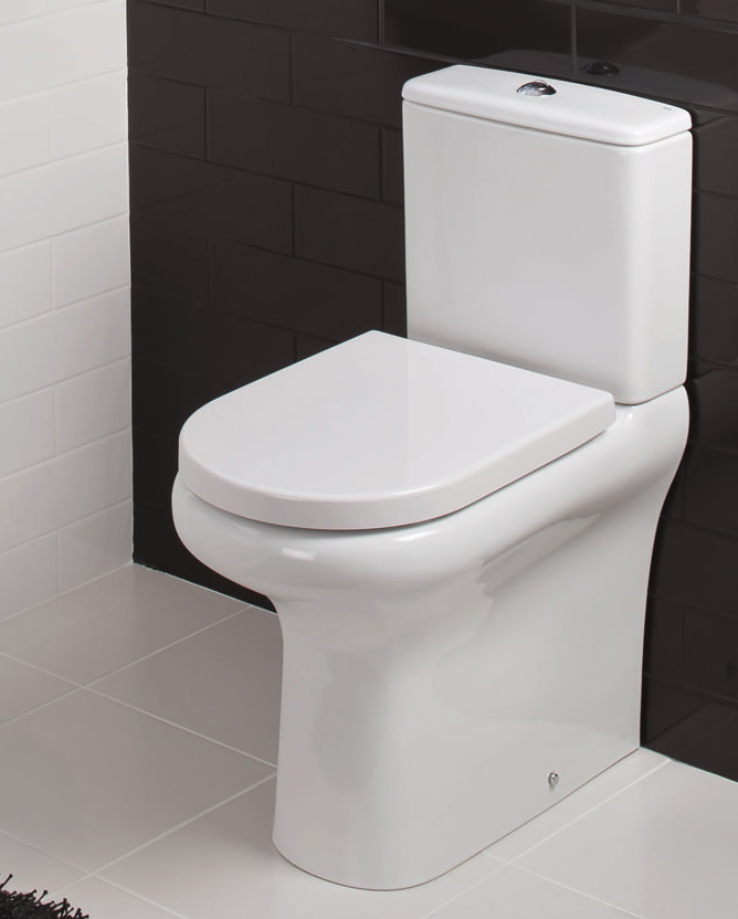 Rak Compact Deluxe Rimless Close Coupled Back To Wall Wc Pack