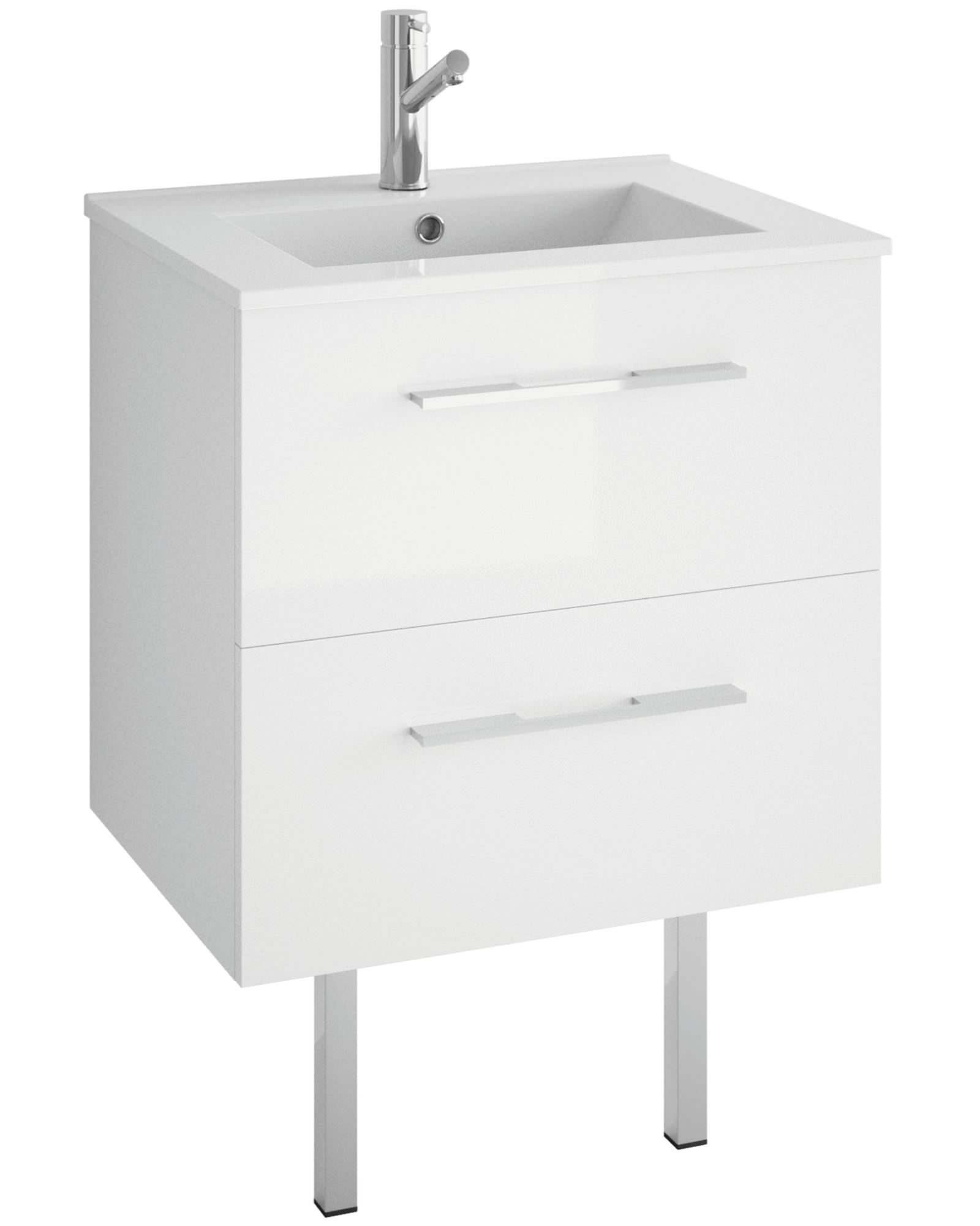 Mirrored bathroom vanity units - Croydex Chinnock 460mm Depth Vanity Unit With Basin