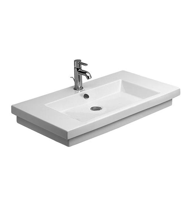 duravit 2nd floor 700 x 460mm 1 taphole ground washbasin. Black Bedroom Furniture Sets. Home Design Ideas