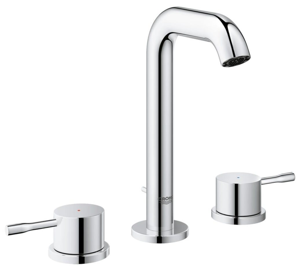 grohe essence new m size 3 hole basin mixer tap. Black Bedroom Furniture Sets. Home Design Ideas
