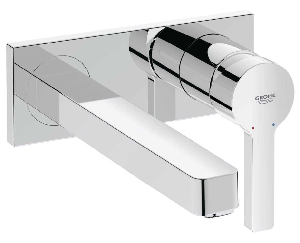 Grohe Lineare M Size Wall Mounted 2 Hole Basin Mixer Tap