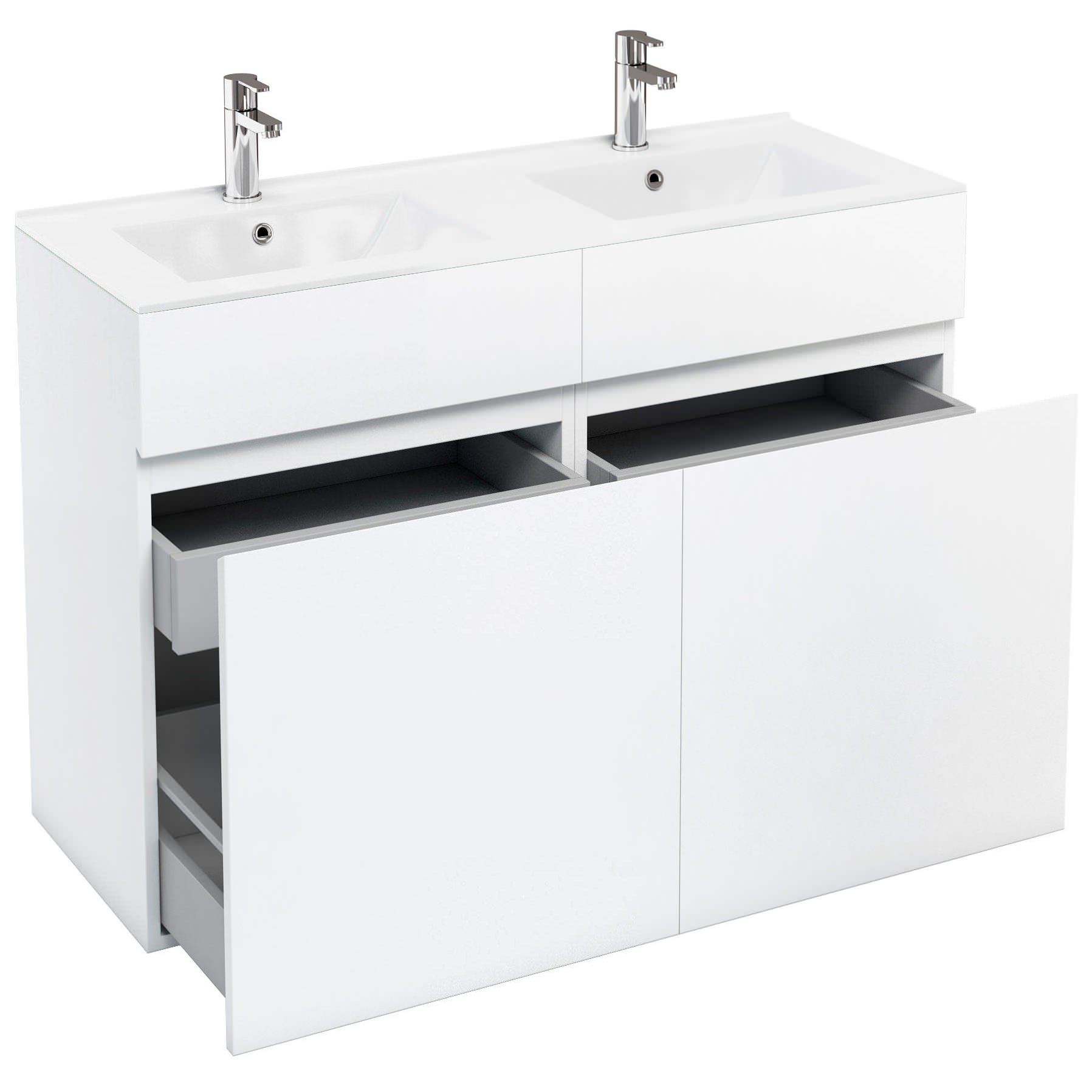 double bowl vanity units. britton aqua cabinets d450 white double drawer units with bowl basin vanity h