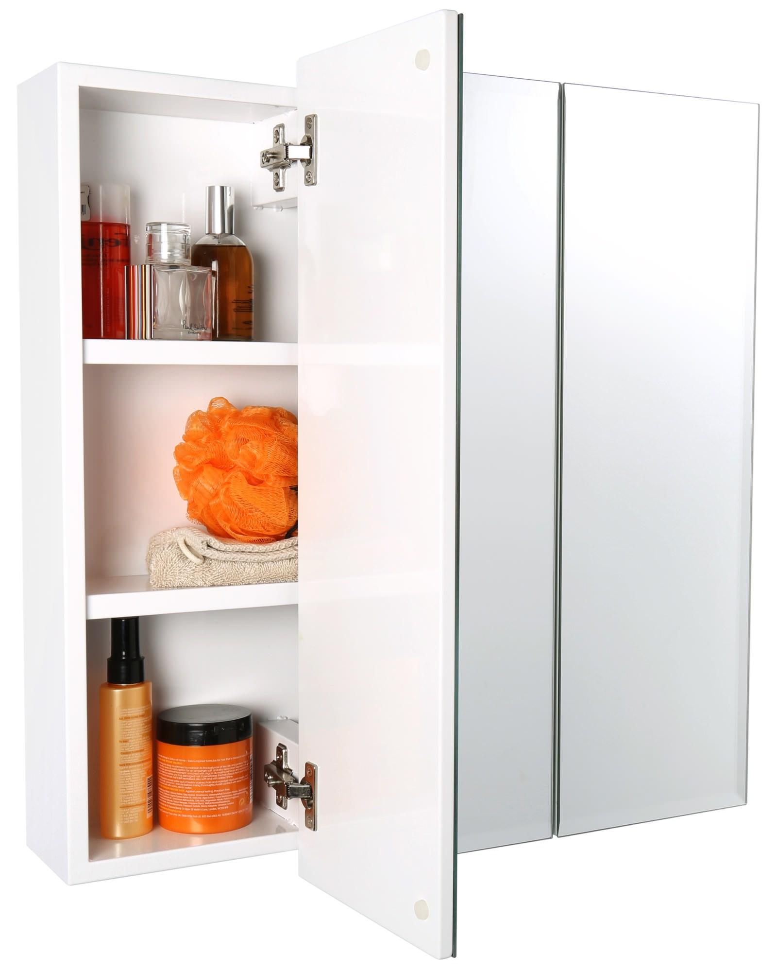Croydex Lymington Triple Door Tri-View Cabinet 610 x 610mm