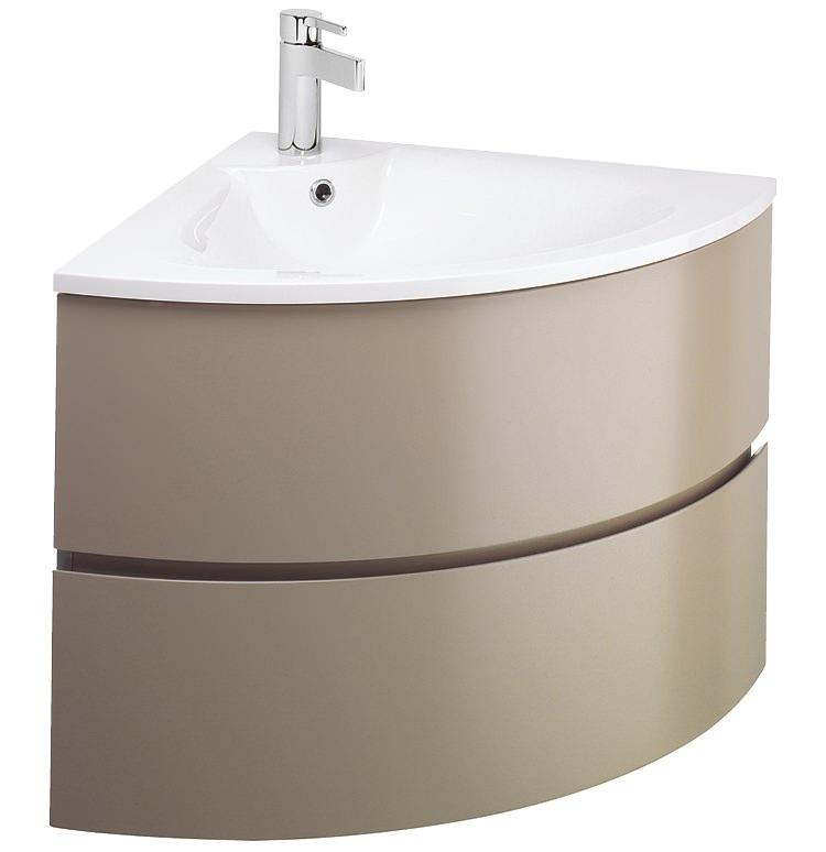bauhaus svelte corner vanity unit and basin
