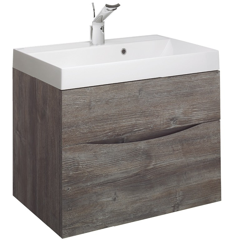 Bauhaus Glide Ii 700 X 455mm 2 Drawer Basin Unit