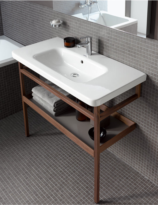 Duravit Durastyle 1000mm Basin With Towel Rail And Shelf
