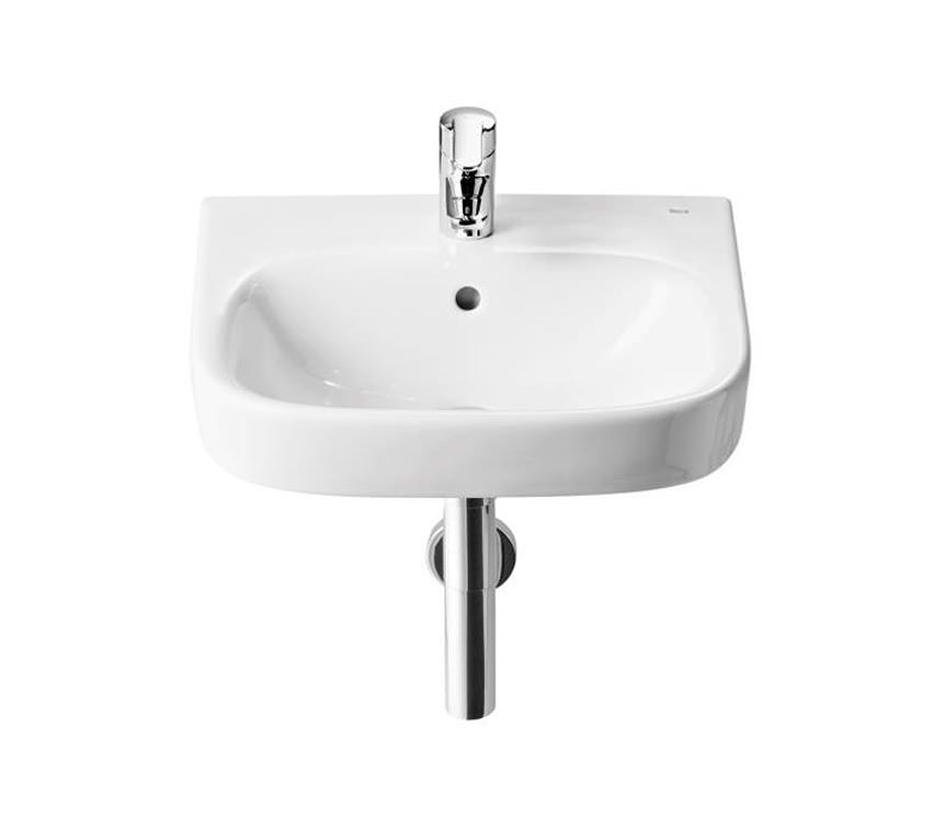 roca bathroom sinks roca debba 450 x 370mm wall hung basin with 1 tap 14235