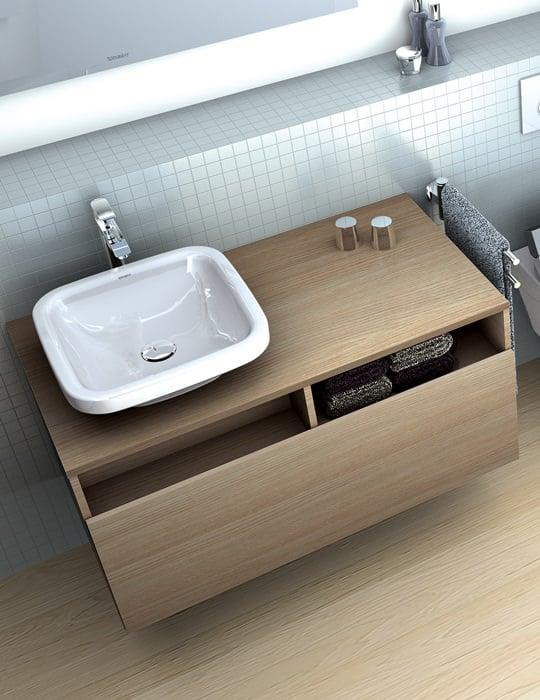 Duravit durastyle 1000mm 1 drawer vanity unit for 1000mm kitchen drawer unit