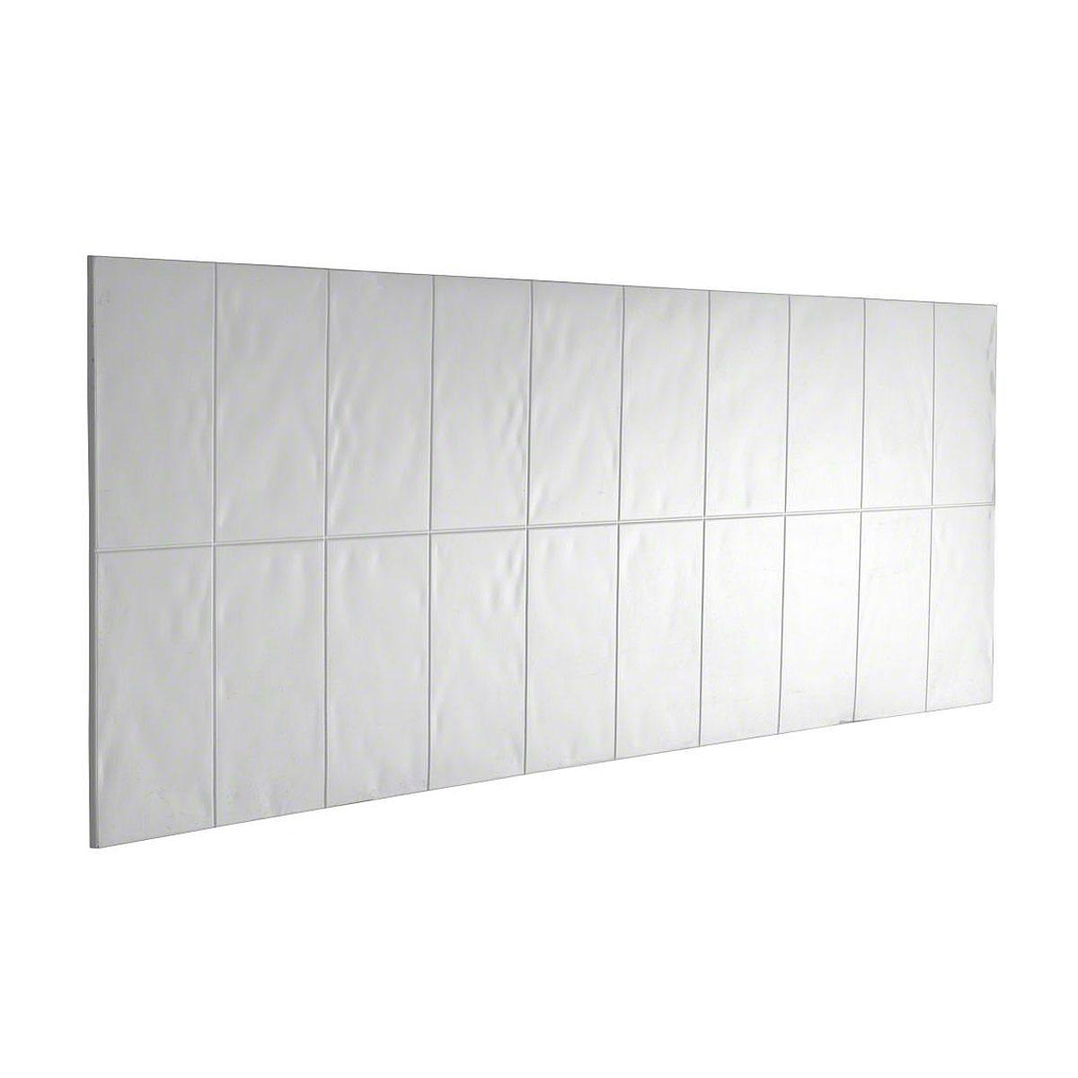 Flight Bathroom Door: Mira Flight Wall Bath Splash Back White Panel