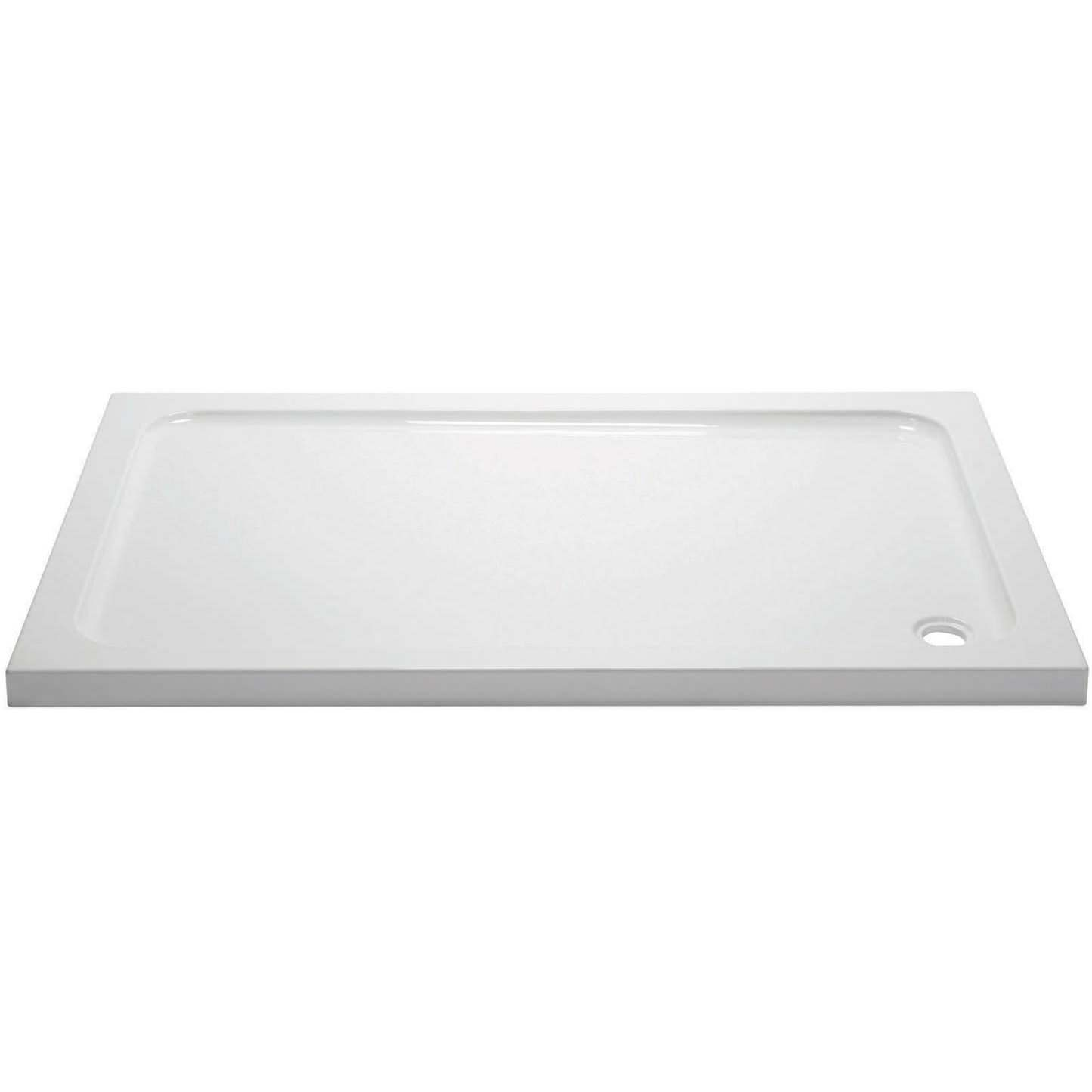 April rectangular 1100 x 700mm shower tray for Small baths 1100