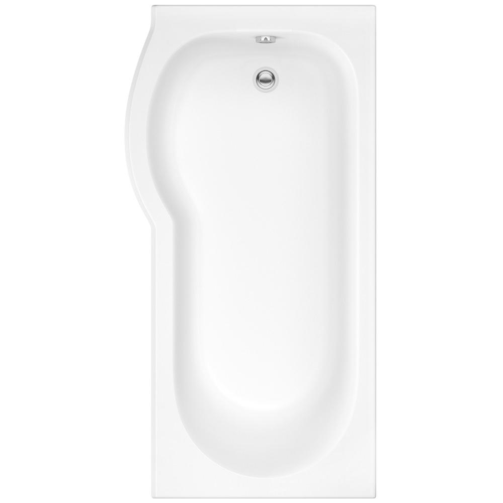 Pura Curve 1675 X 850mm Left Hand Shower Bath