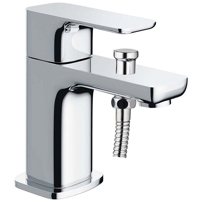 Pura Flite Mono Deck Mounted Bath Shower Mixer Tap With Kit