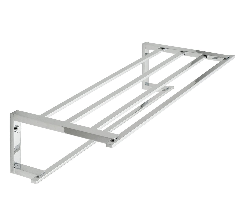 Vado Level Chrome 550mm Towel Shelf With Rail