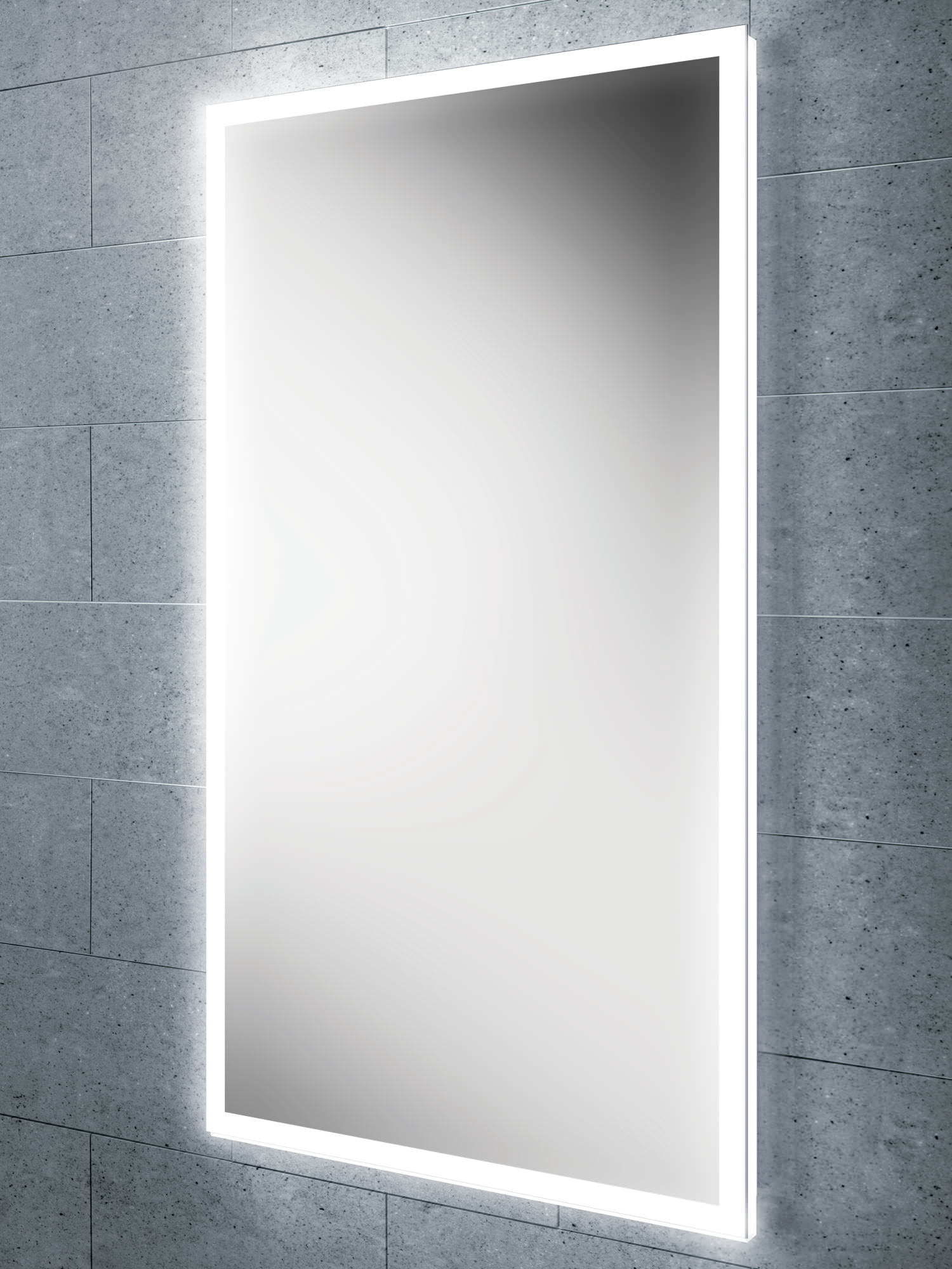 Bathroom Mirrors Led hib globe 45 steam free led illuminated bathroom mirror 450x800mm