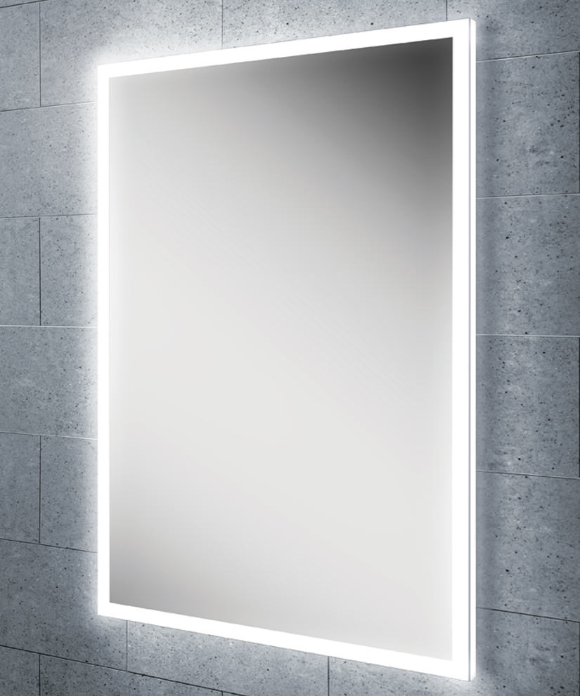 Hib globe 50 steam free led illuminated bathroom mirror for Miroir 160 x 50
