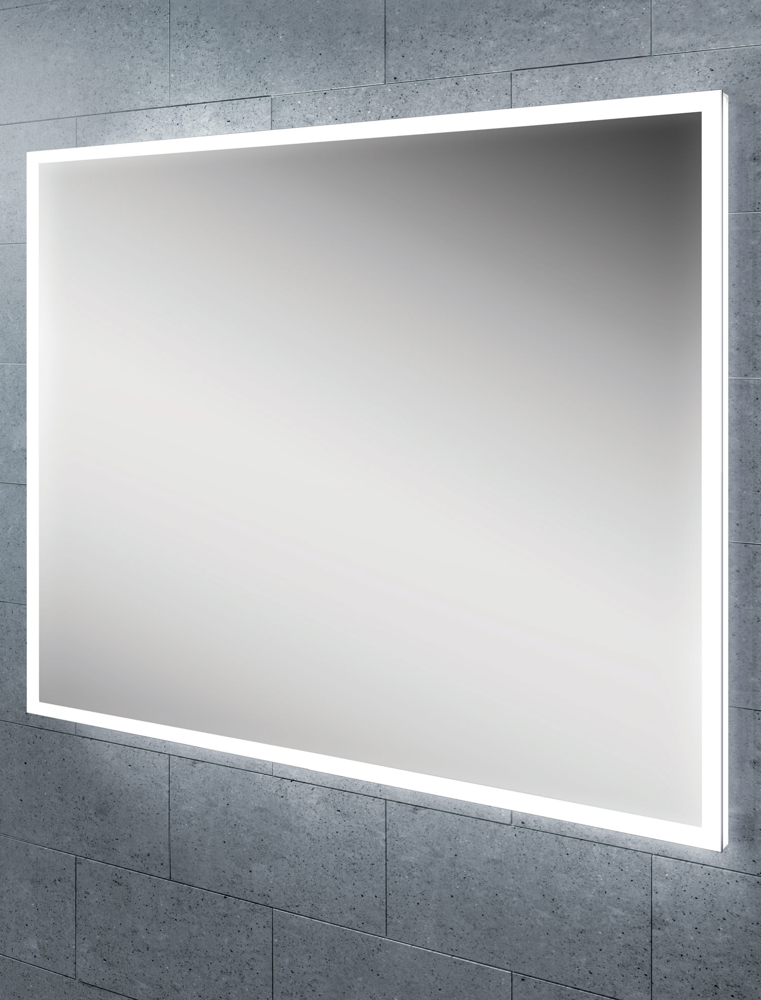 hib globe 60 steam free led illuminated bathroom mirror 800x600mm
