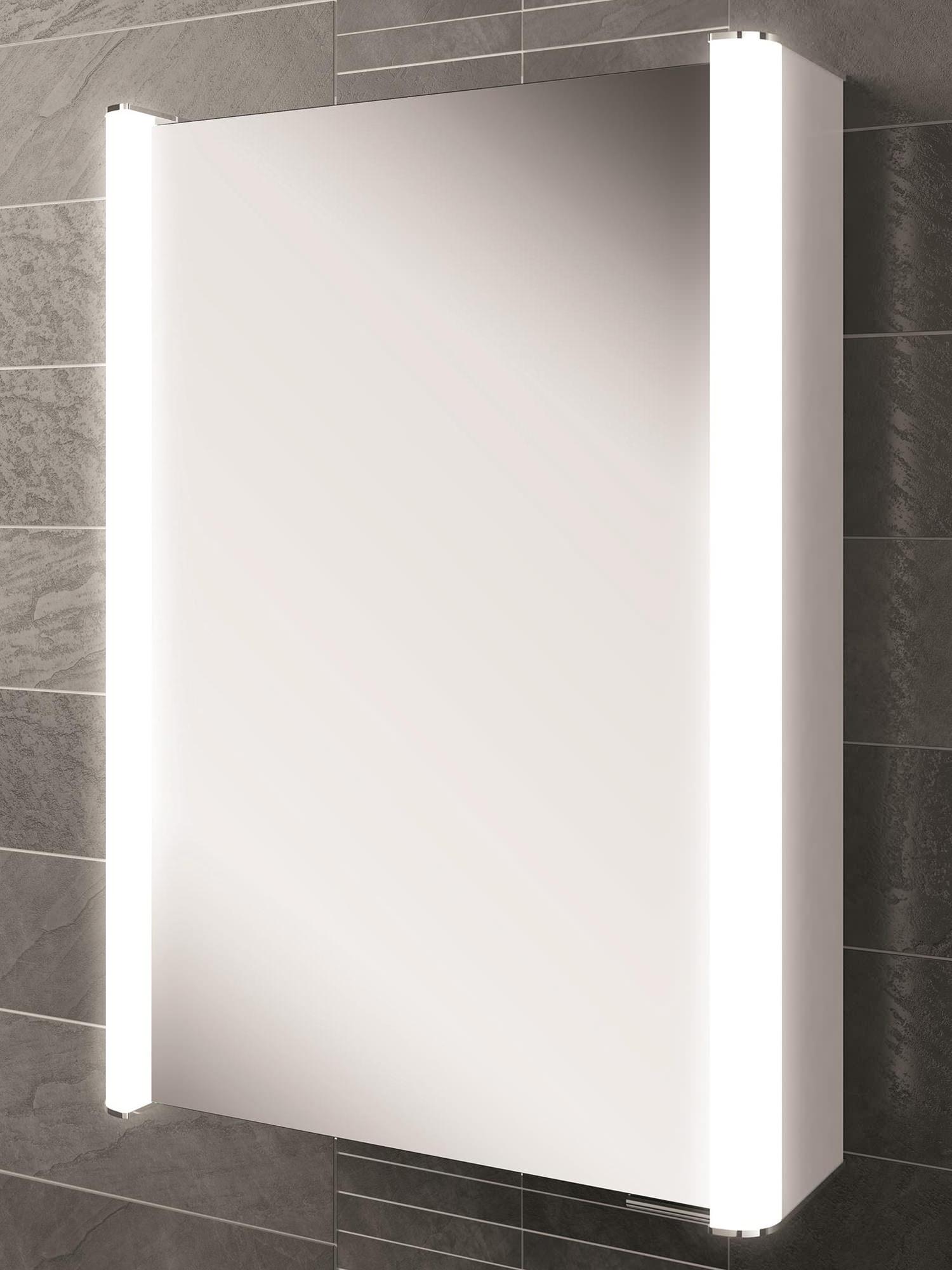 hib vita 50 single door led illuminated aluminium cabinet. Black Bedroom Furniture Sets. Home Design Ideas