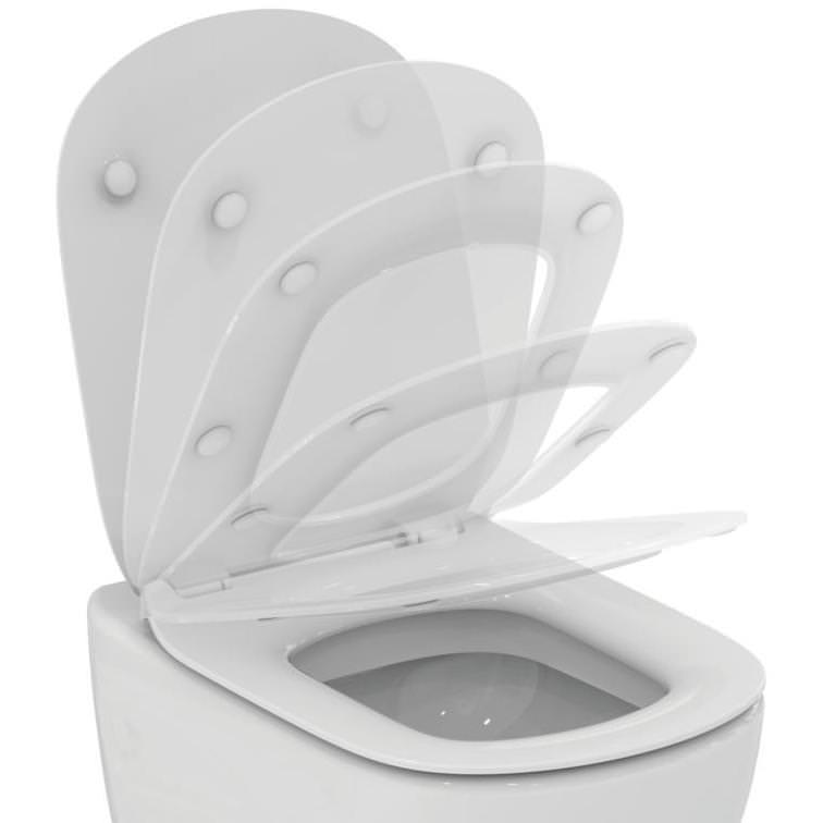 Ideal standard tesi slim slow close wc toilet seat for Tesi design ideal standard