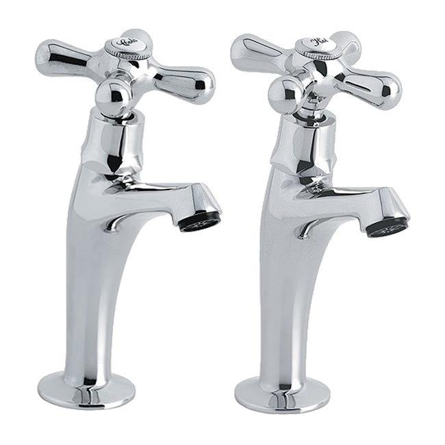 Astracast Bentley High Neck Pair Of Kitchen Sink Pillar Taps