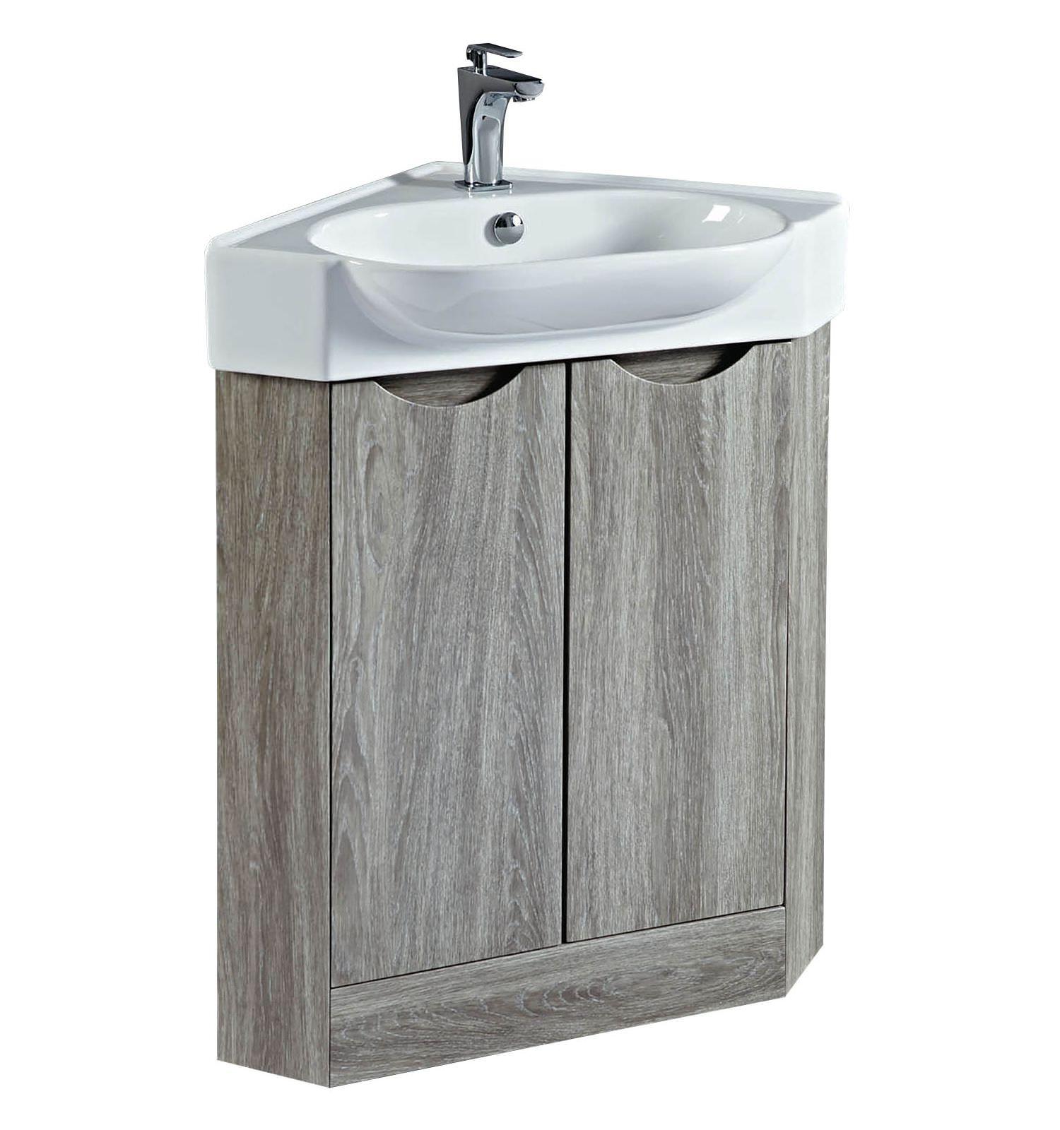 Phoenix dakota 510mm avola corner vanity unit and basin - Corner sink and vanity unit ...