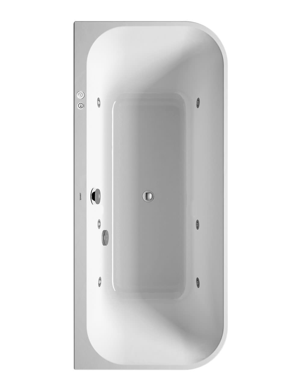 Duravit Happy D2 Back-To-Wall 1800 x 800mm Bath With Panel And Jet ...